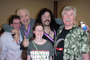Brian, Chuck McCann, Eleanor, Wally Wingert, Jerry